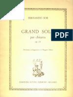 Fernando Sor - Grand Solo, Op.14 (1) (Chiesa)