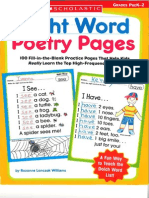 Lanczak Williams r Sight Word Poetry Pages Grad