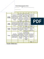 Weekly Reading Participation Rubric