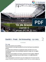 'In de ArenA' - Preek Daniël 6  De Ontmoeting – 25-1-2015-web