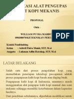 (Sp) Modifikasi Alat Pengupas Kulit Kopi Mekanis