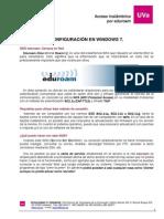 Acceso Eduroam Windows 7