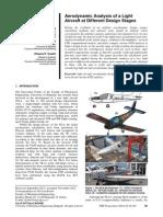 Aerodinamička Analiza Lakog Aviona u Različitim Razvojnim Fazama Projekta