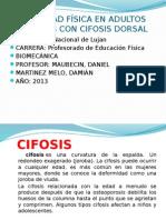 Actividad Física en Adultos Mayores Con Cifosis Dorsal