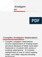 Complex Amalgam Restoration(Final)