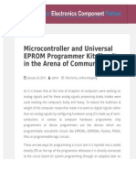 Microcontroller and Universal EPROM Programmer Kit Circuit in the Arena of Communication
