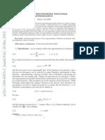 Non Periodic Trigonometric Approximation