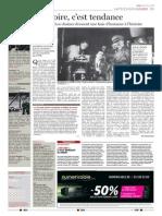 """Le Soir, """"L'histoire, c'est tendance"""", 27 janvier 2015"""