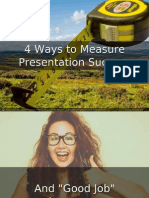 4 Ways to Measure Your Presentation