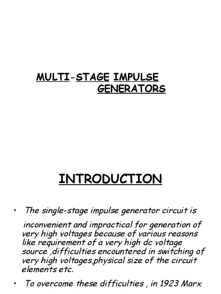 High Voltage Ppt Capacitor Electrical Network Generator Circuit