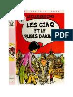 Blyton Enid Les Cinq 17 Les Cinq et le diamant bleu OU Les Cinq et le rubis d'Akbar 1979.doc