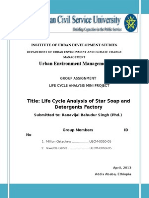 Life Cycle Assessment of Soap and Detergents | Life Cycle