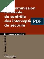 CNCIS-22e Rapport d'Activité 2014