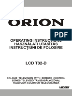Orion Lcd Tv - t 32d New Rc1910 (Romanian)