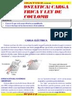Electrostatica- Carga Electrica y Ley Del Coulomb Www.gratis2.Com
