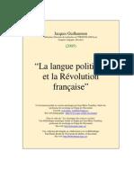La Langue Politique Et La Revolution Francaise