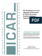 The Prediction of Coarse Aggregate Performance by Micro-Deval and Soundness Related Aggregate Tests