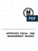 FY1999 Approved Management Budget (639 Pages)