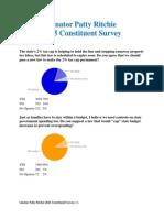 Senator Patty Ritchie 2015 Constituent Survey