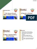 03 - Towards a Christian Morality Part I