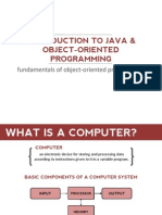 1 - Introduction to Java and Object-Oriented Programming FS 2014-2015