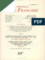 La Nouvelle Revue Francaise n 143 Novembre 1964