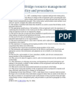 157.415 Bridge Resource Management Policy and Procedures