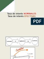 Tasas de Interes Nominal y Efectiva