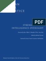 Strengthening Intelligence Oversight