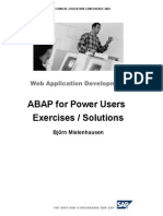 ABAP for Power Users Exercises
