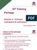 Session5 Principal Contractors & Contractors