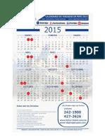 Calendario Fertur Feriados Peru 2015