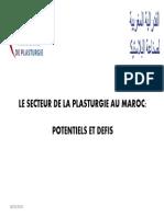 Présentation Du Secteur de La Plasturgie Et de La FMP