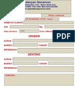 Ficha Cadastral de Cliente