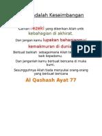 Islam Adalah Keseimbangan