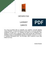 Lavirint Samoce - Oktavio Pas