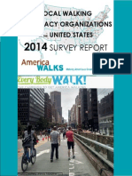 Local Walking Advocacy Organization 2014 Survey Report