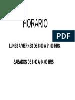 Horario Casino