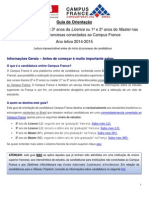 Guia de Candidatura Guia de Candidatura 2014-2015 Campus France2014-2015 Campus France
