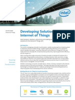 Developing Solutions for Iot