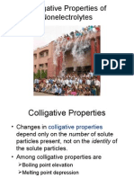 Colligative Properties of Nonelectrolytes (1)