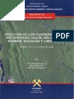 Geología - Cuadrangulo de Río Santiago