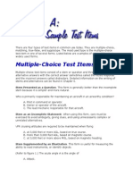 There Are Four Types of Test Items in Common Use Today