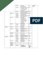 Schedule Research Methods