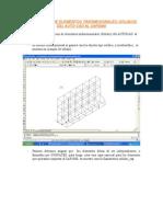 Importación Elemento Solidos Del Auto CAD Al SAP2000