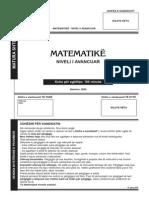 3003 Matematika 2009 Alb Napredno Nivo Juni
