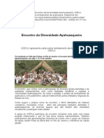 Alverga, Alex Polari de - Carta Para o Encontro Da Diversidade Ayahuasqueira