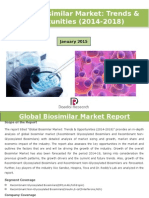 Global Biosimilar Market Trends & Opportunities