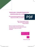 Tecnologia y Pequeña Produccion Agropecuaria en La Argentina