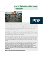 An Overview of Relations Between Israel and Palestine